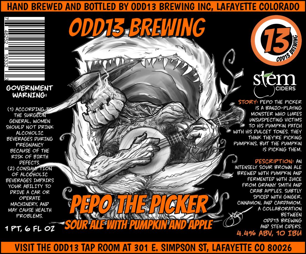 odd13 brewing & stem ciders - pepo the picker