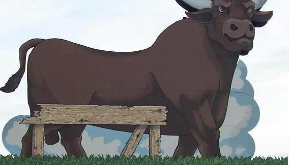 http://commons.wikimedia.org/wiki/File:Durham_Bull_flip_side.JPG