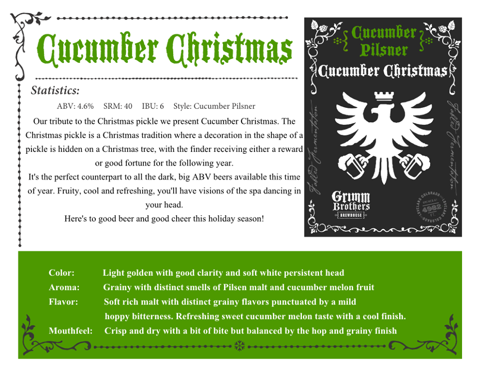 cucumber christmas release - grimm bros - dbb - 11-29-14