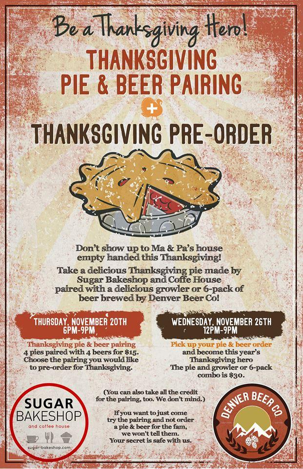 denver beer co - pie & beer pairing - dbb - 11-20-14