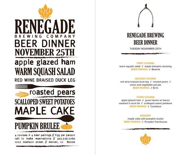 renegade brewing beer dinner at tag burger bar - dbb - 11-25-14