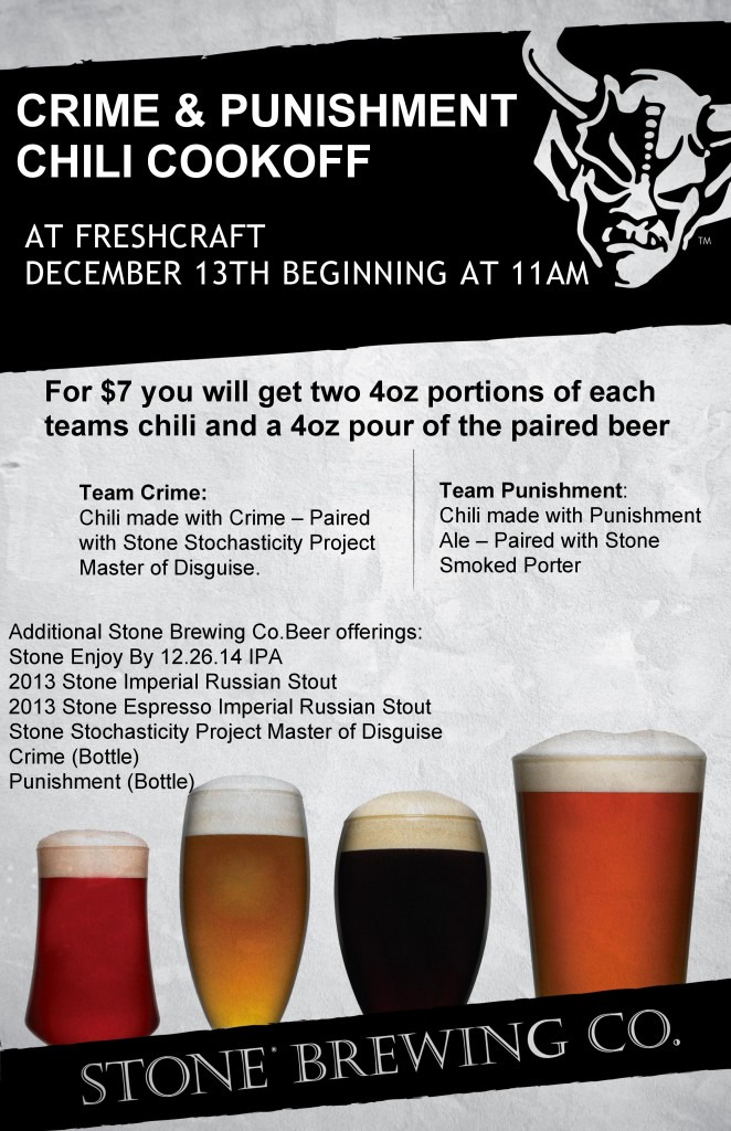Crime & Punishment Chili Cook Off at Freshcraft - dbb 12-13-14