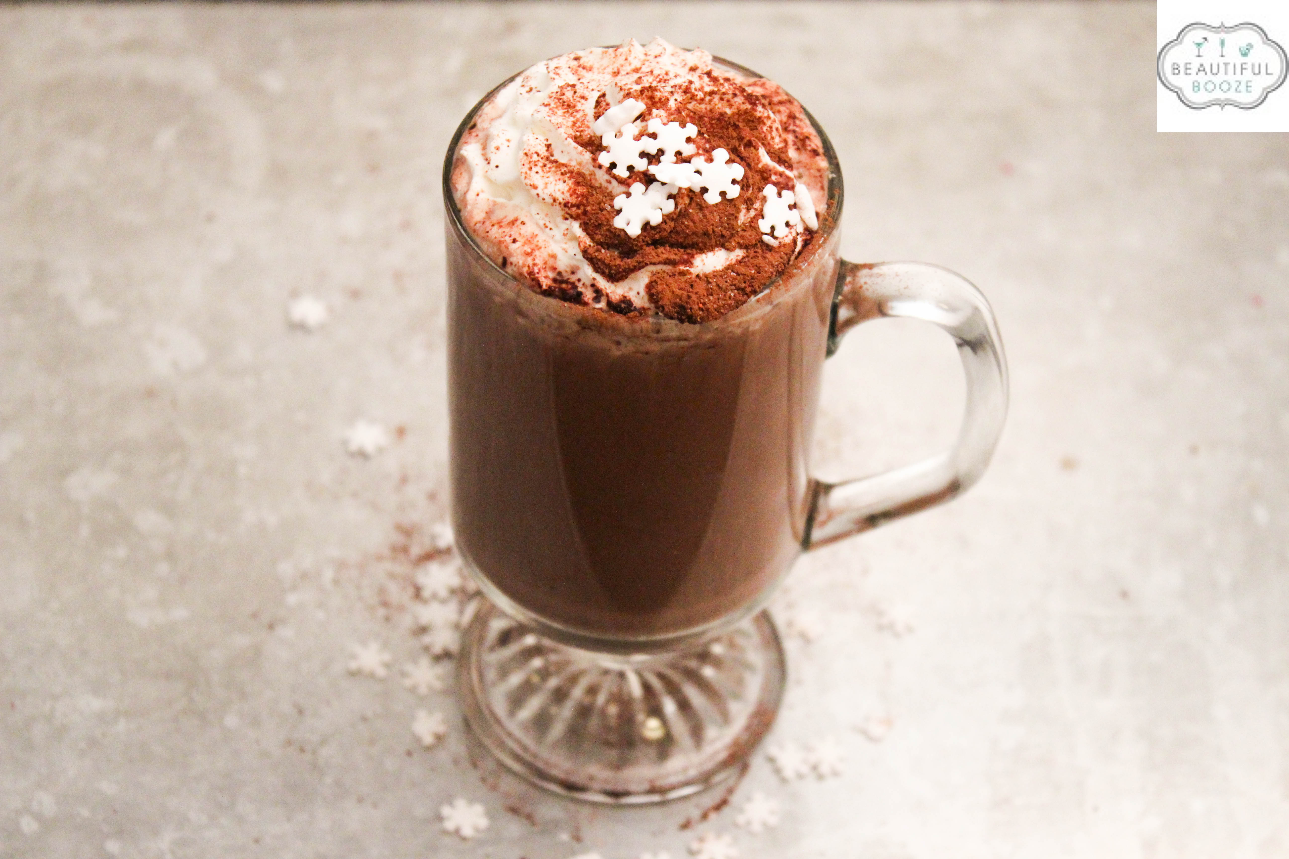 Spiked Hot Chocolate = Bourbon + Beer + Hot Chocolate!