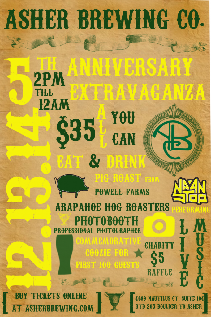 asher brewing - 5th anniversary party - dbb - 12-13-14