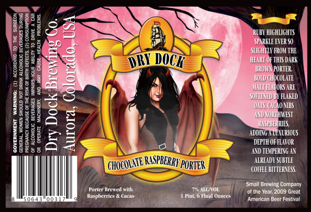 chocolate raspberry porter - dry dock north - dbb - 12-18-14