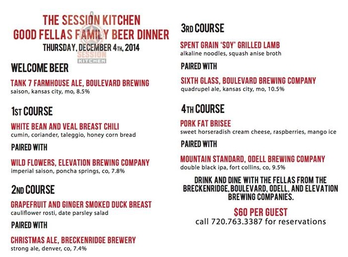 goodfellas beer dinner - dbb - 12-04-14