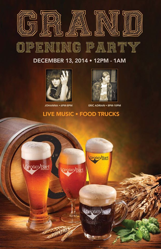 grand opening party - grossen bart brewery - dbb - 12-13-14