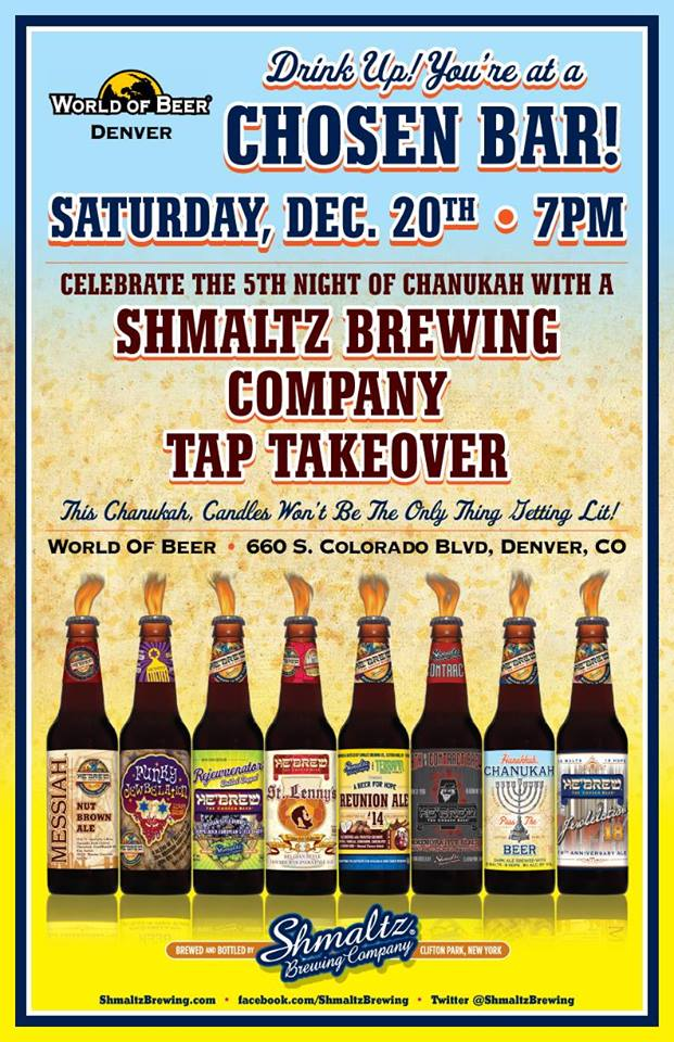 schmaltz brewing tap takeover at WOB cherry creek - dbb - 12-20-14