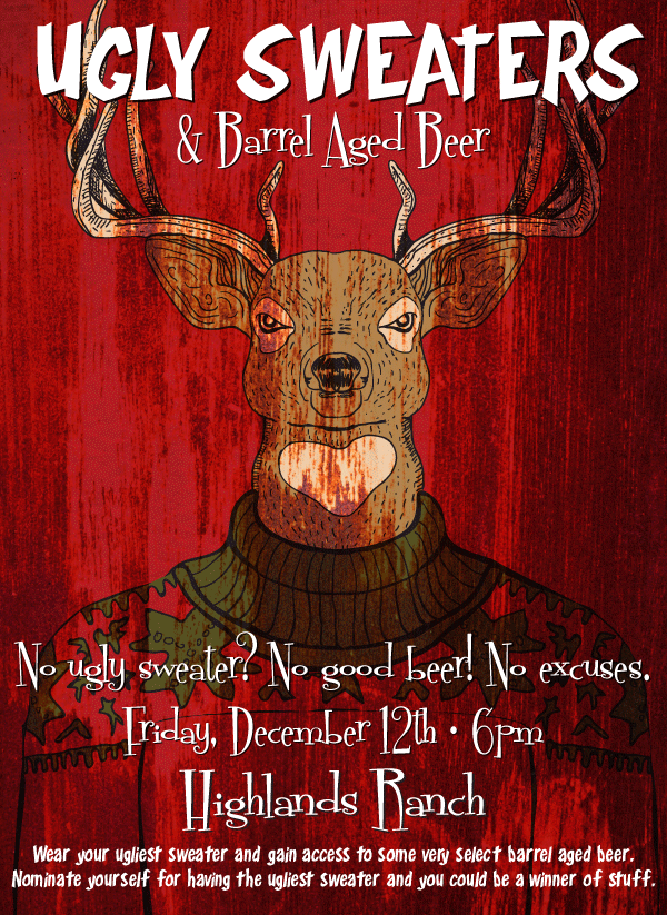 ugly sweaters & barrel aged beer party - parry's pizza -dbb - 12-12-14