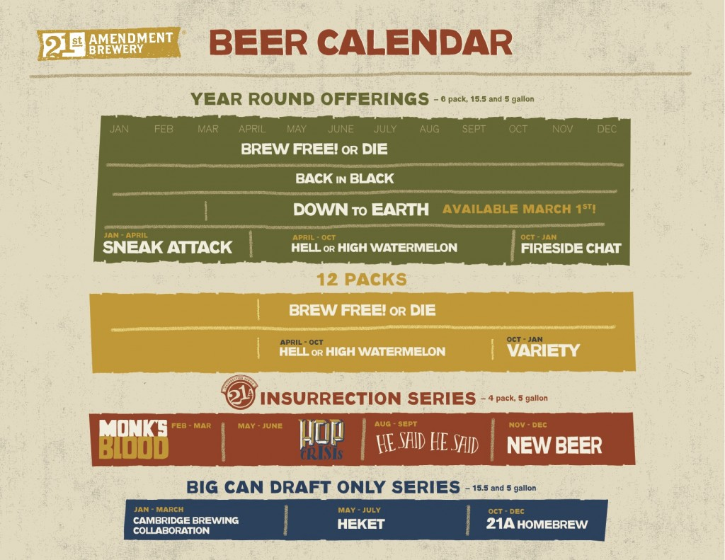 21st Amendment 2015 Beer Calendar