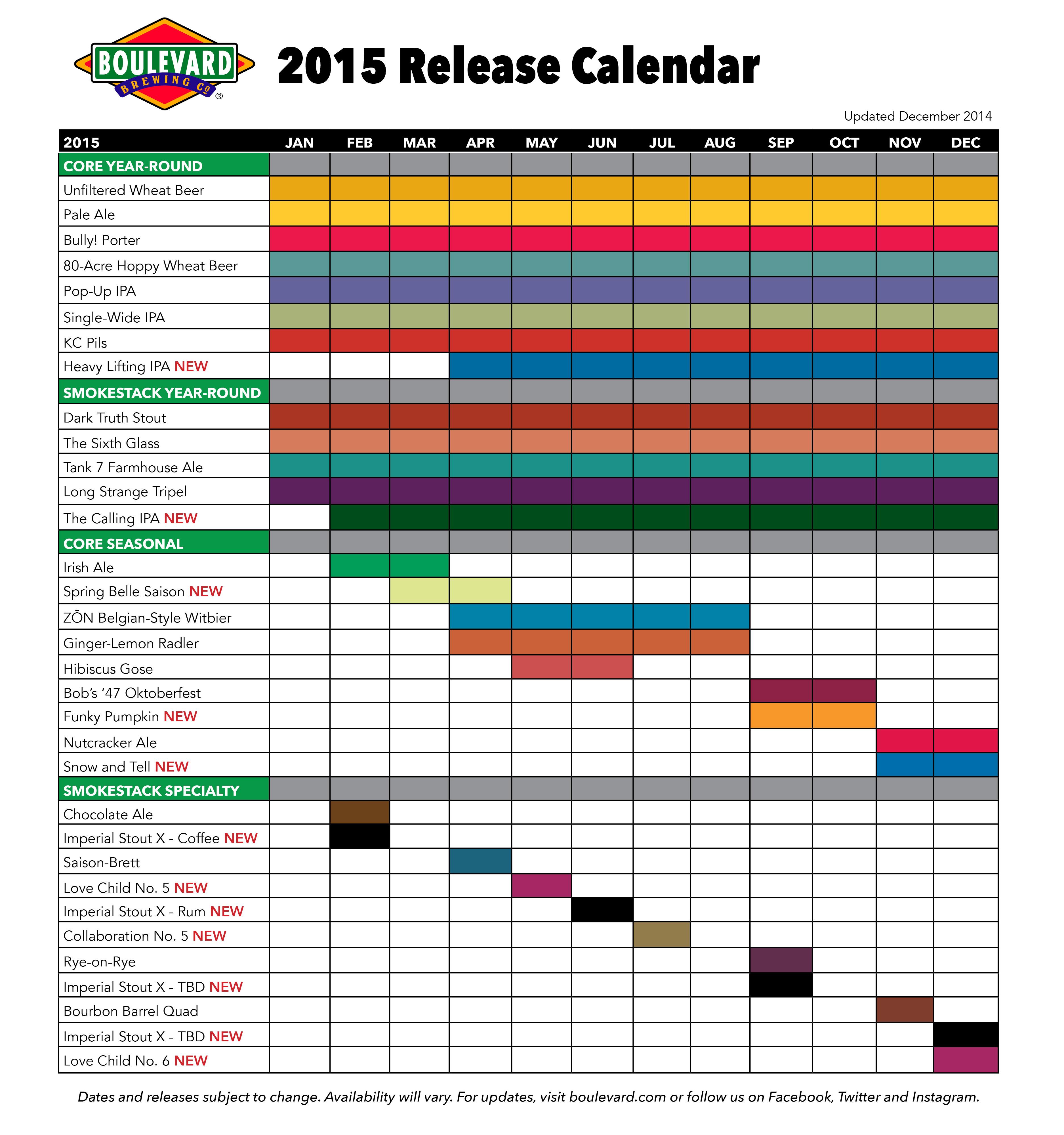 Calendar Craft 2015 : Craft beer release calendarsporchdrinking