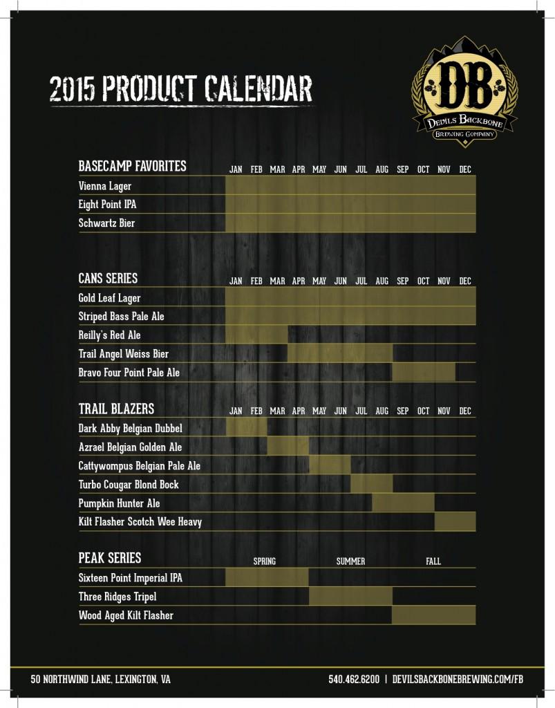 Devils Backbone Brewery Calendar Releases 2015