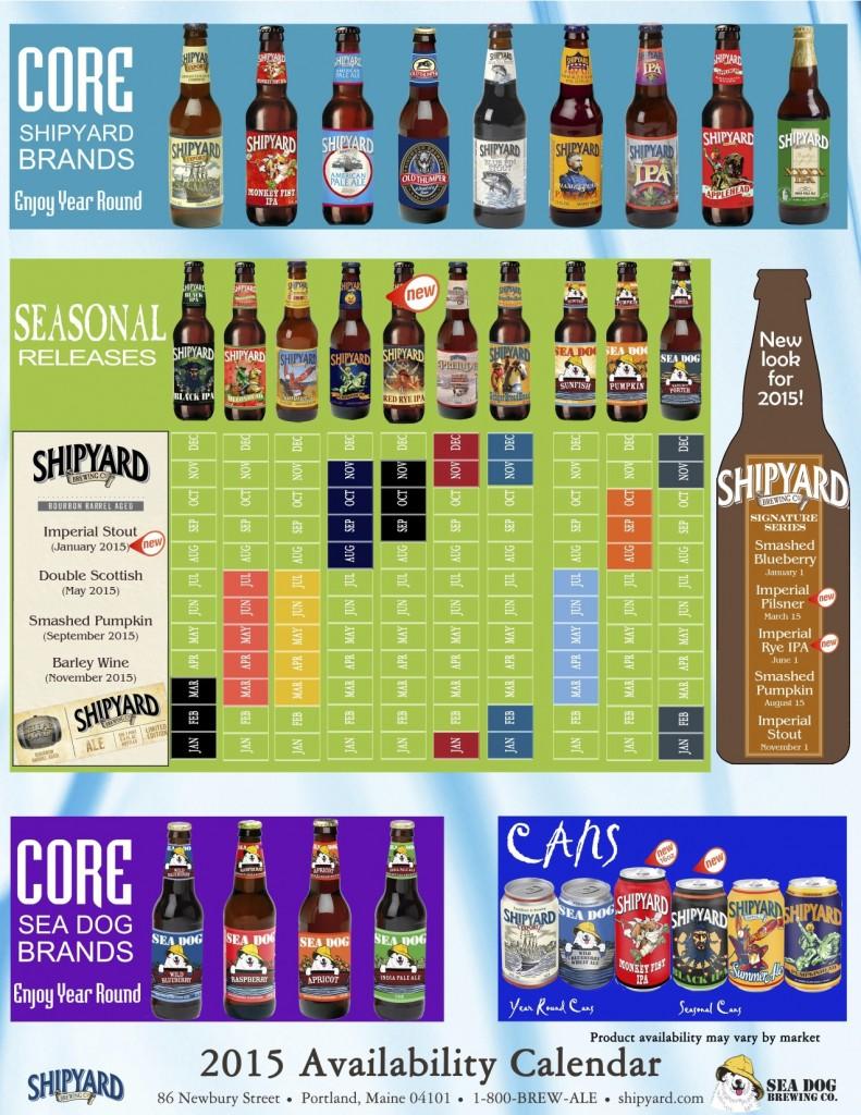 Shipyard Beer Calendar 2015