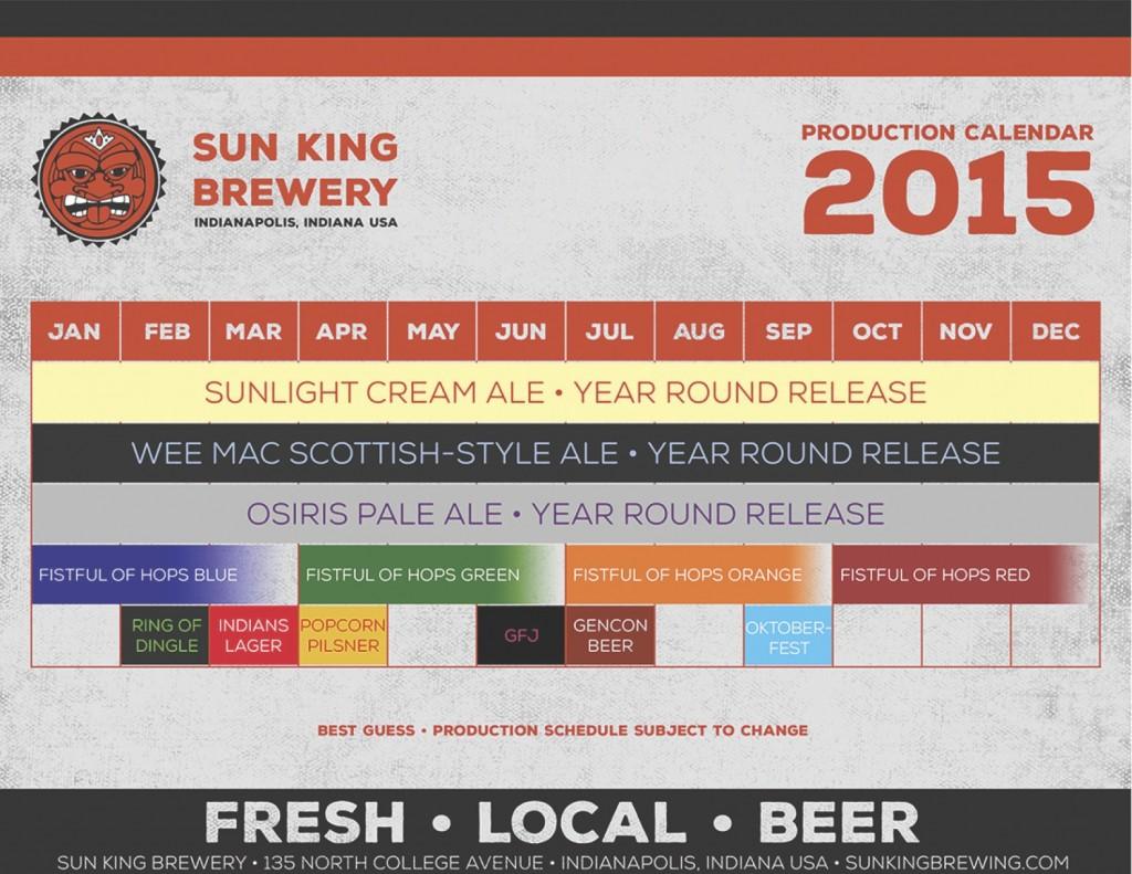 Sun King Calendar 2015