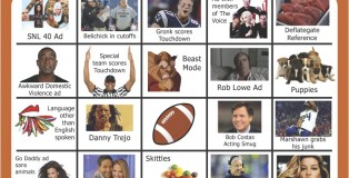 Super Bowl Bingo Board XLIX
