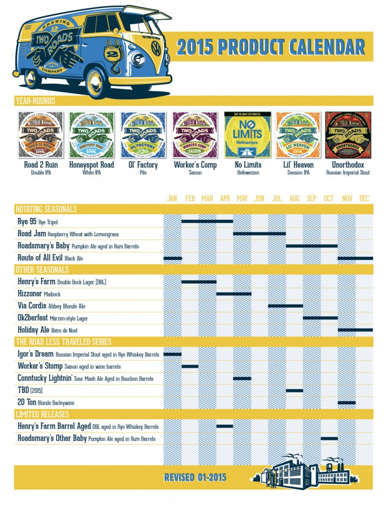 Two Roads Beer Calendar 2015