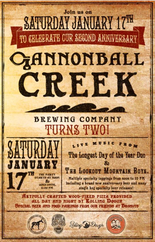 cannonball creek 2 yr anni