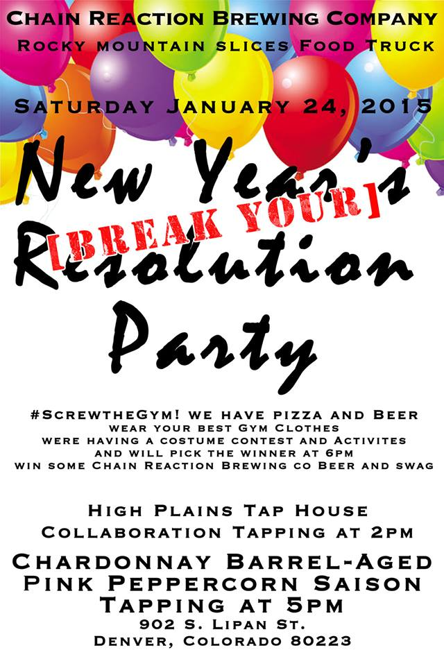 chain reaction break your resolution party - chain reaction - dbb - 01-24-15