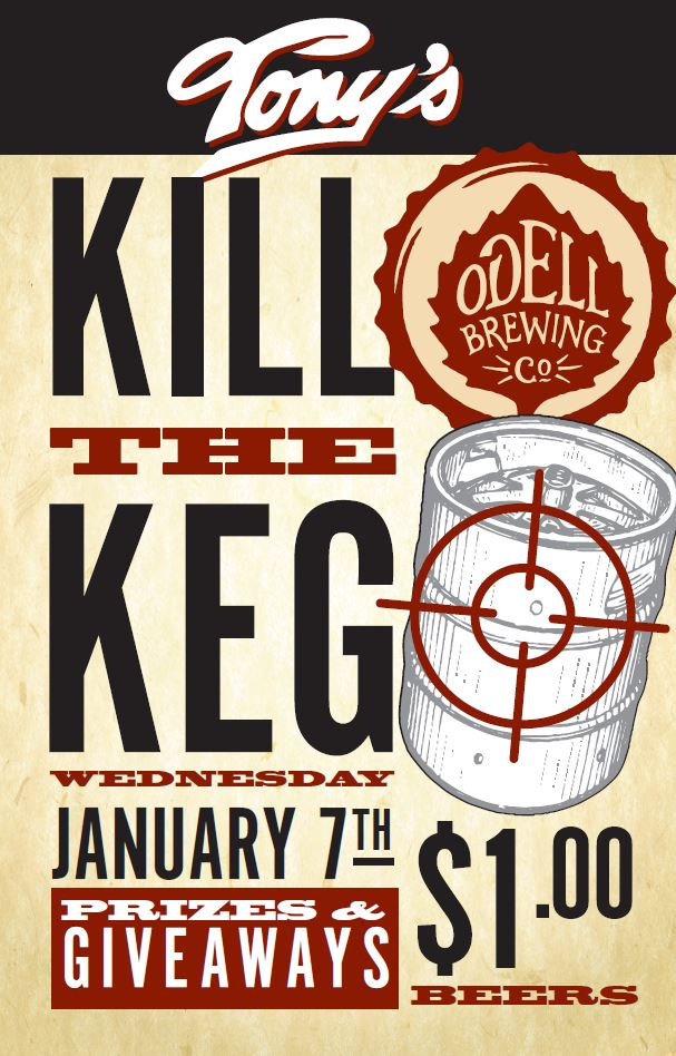 kill the keg at tonys - dbb - 01-07-15