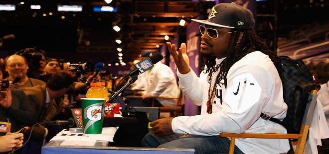 Blame the Media for Marshawn Lynch's Interview Mockery