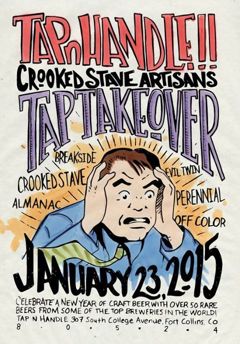 tap and handle - crooked stave takeover - dbb - 01-23-15