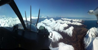 The scenic approach to Kodiak Island.