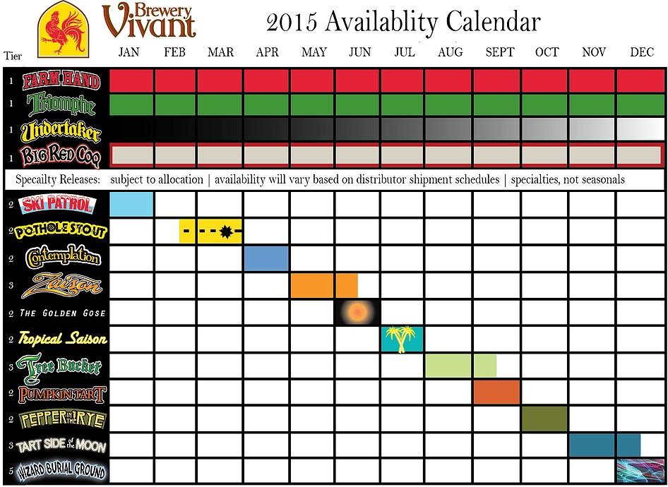 Brewery Vivant Beer Calendar