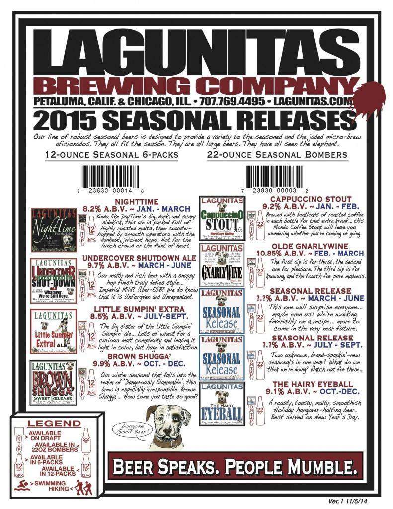 Lagunitas Beer Calendar 2015