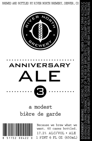 River North - Anniversary Ale #3 - dbb - 02-13-15