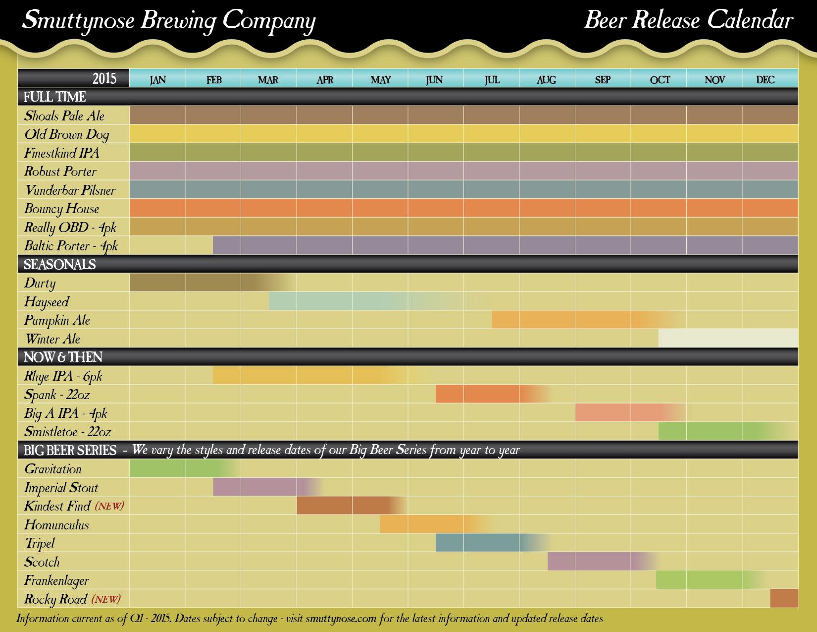 Calendar Q : Craft beer release calendars