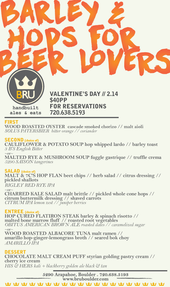 barley & hops are for lovers - bru beer dinner - dbb - 02-14-15