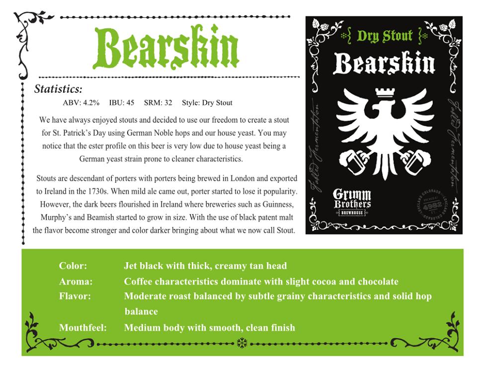 bearskin release - grimm bros - dbb - 02-28-15