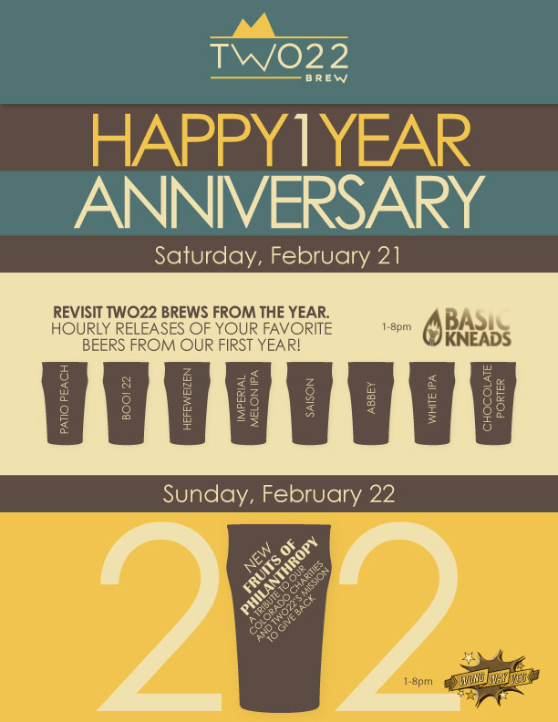 two twenty two brew - 1 year anniversary - dbb - 02-21-15