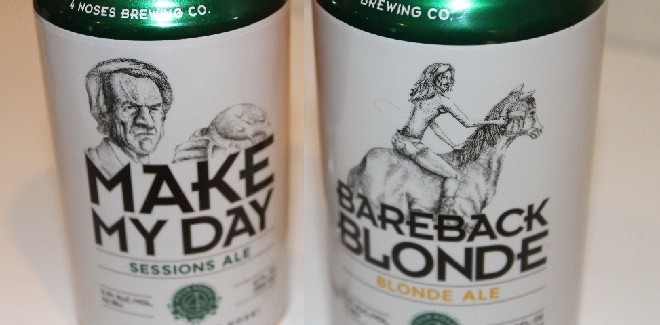 4 Noses Brewing Co. | Bareback Blonde Ale and Make My Day Session IPA
