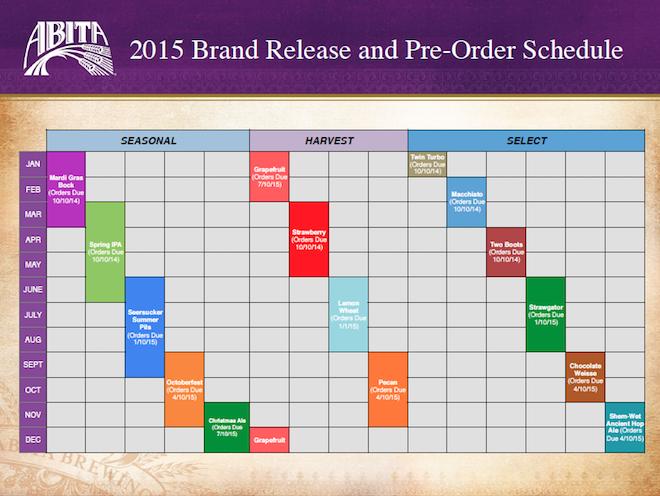 Abita 2015 Release Calendar