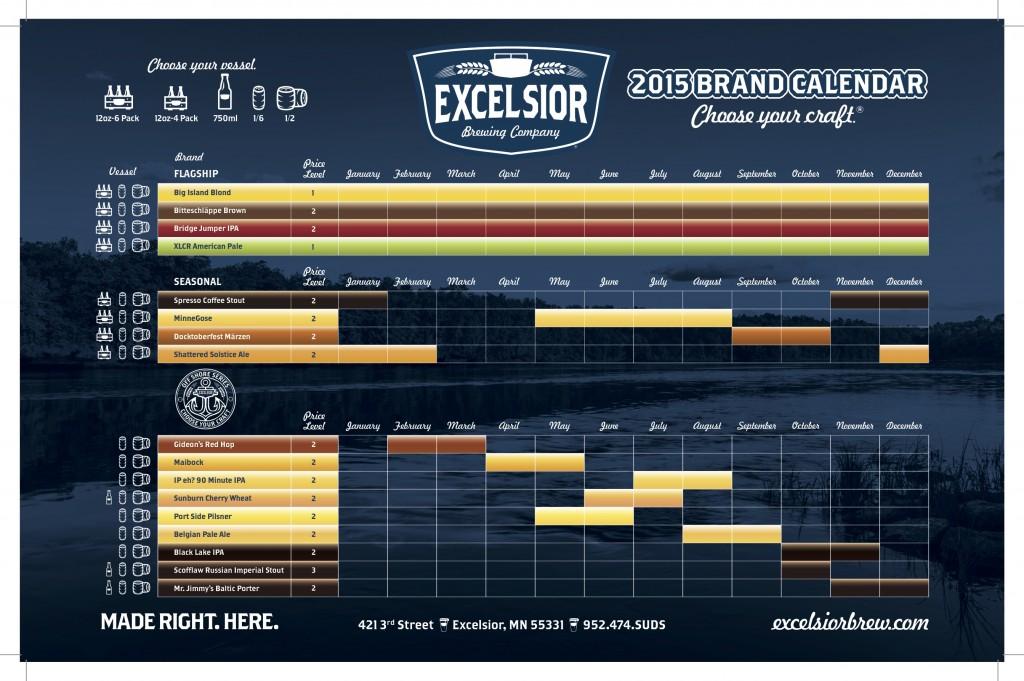 Excelsior Brand Calendar 11x17 Crops