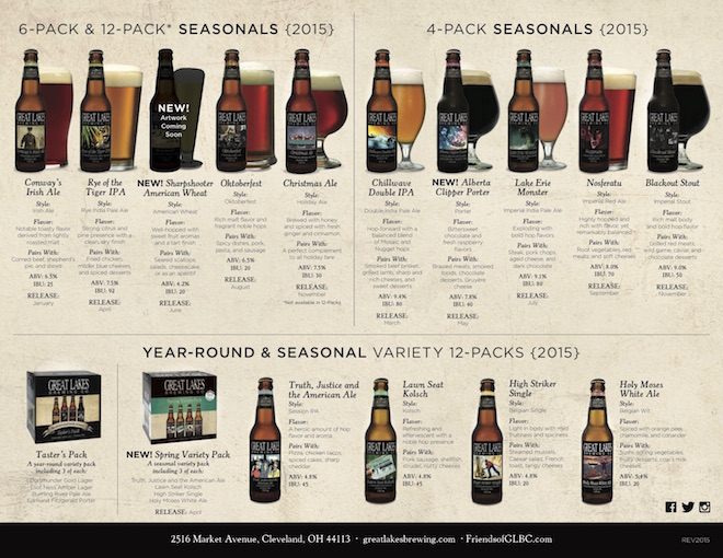 Great Lakes Release Calendar 2015