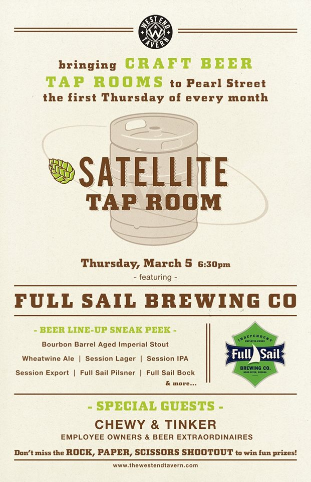 full sail - satellite tap room - west end tavern - dbb - 03-06-15