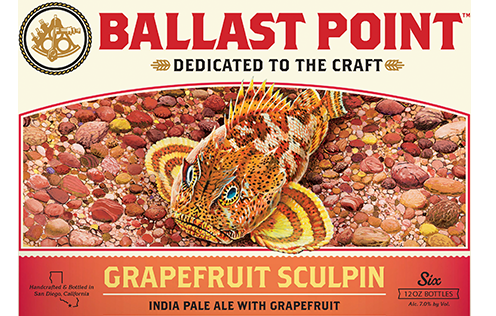 ballast point grapefruit sculpin label