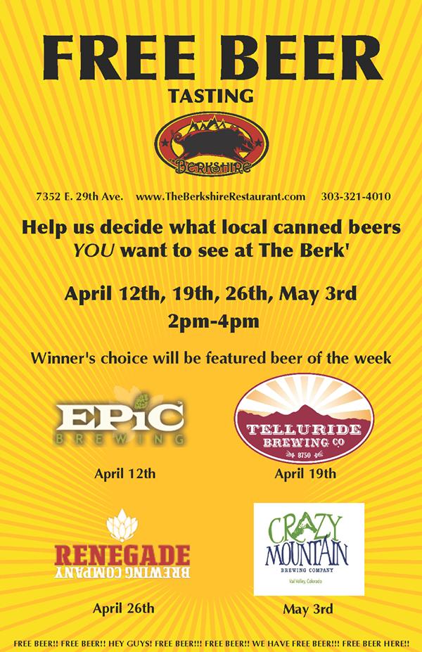 berkshire and elite brands free beer tasting - dbb - 04-26-2015