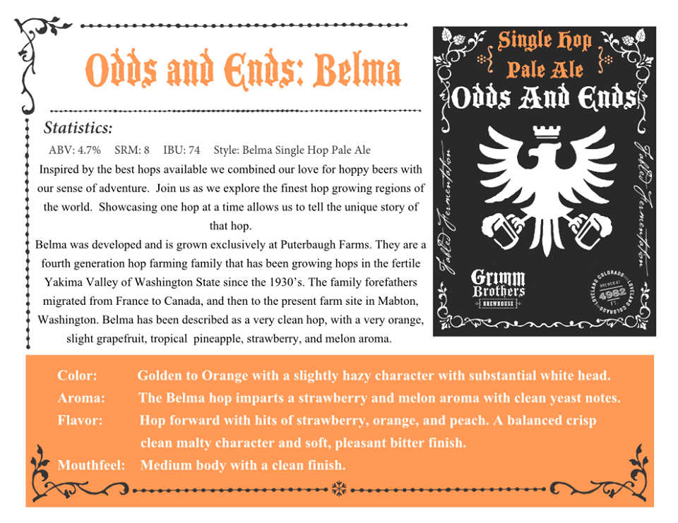odds and ends - belma release - grimm bros - dbb - 04-25-2015
