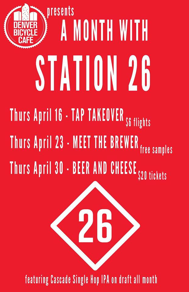 station 26 month at Denver Bicycle Cafe - dbb - 04-16-2015