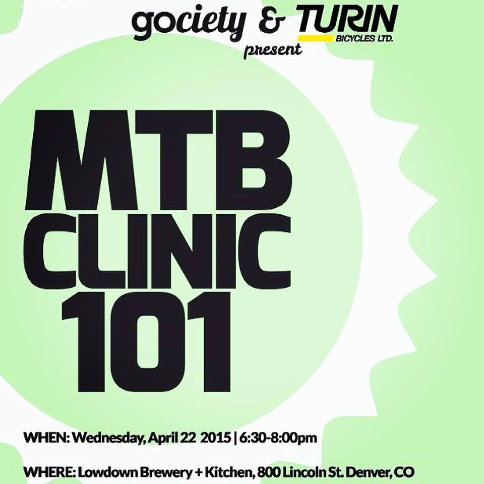 turin bicycles mtb clinic 101 - lowdown brewery - dbb - 04-22-15