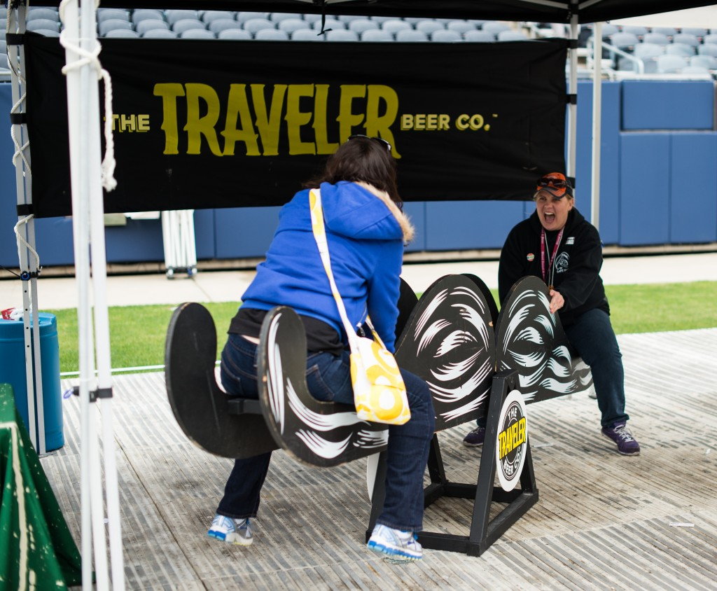 Traveler Beer Co. had some great beer at the American Beer Classic and they also brought along a see-saw. Photo by Eric Dirksen.