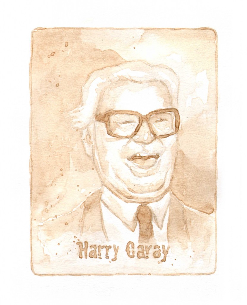 The great Cubs announcer Harry Caray.