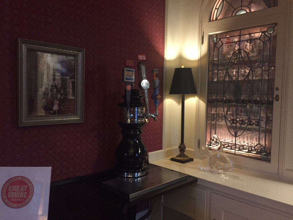 The infamous beer taps in the Governor's mansion.
