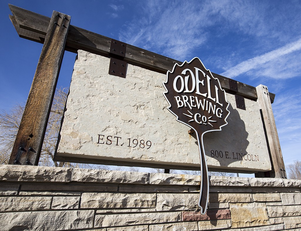 odell brewing signage