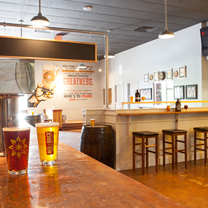 A view of the newly remodeled Red Brick taproom. (Courtesy: Red Brick Brewing)