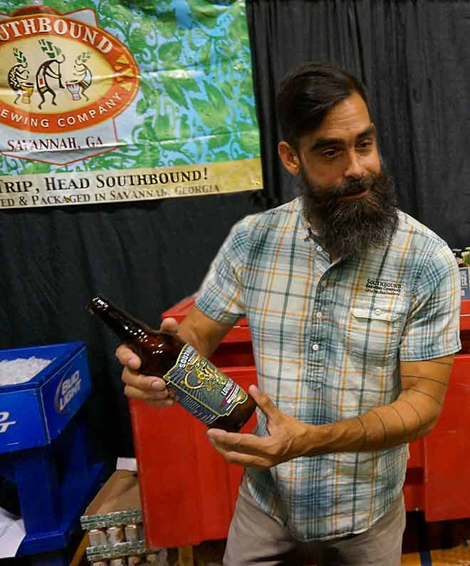 Southbound Brewing rep shows off newest seasonal bottle release