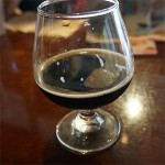 Glass of Dogfish Head Choc Lobster